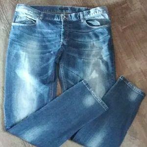 Sisley jeans faded sz38
